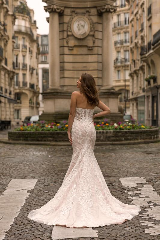 Inez Ml5219 Full Lace Fitted Gown With Sweetheart Neckline And Zip Up Back Wedding Dress Madi Lane Bridal2
