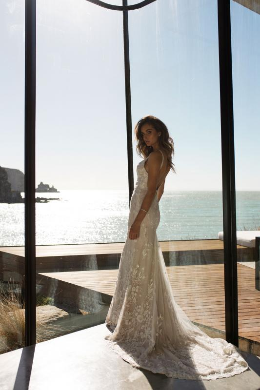 Rakel Ml7018 Full Lace Fitted Gown With Plunging Neckline Beaded Straps Wedding Dress Madi Lane Bridal10