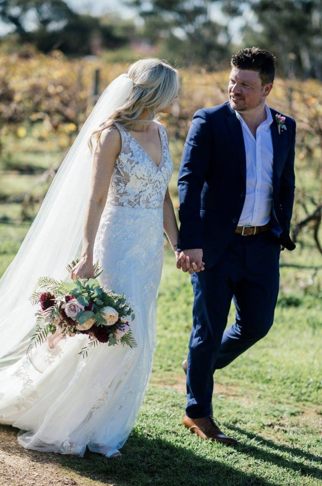 real bride in Evie