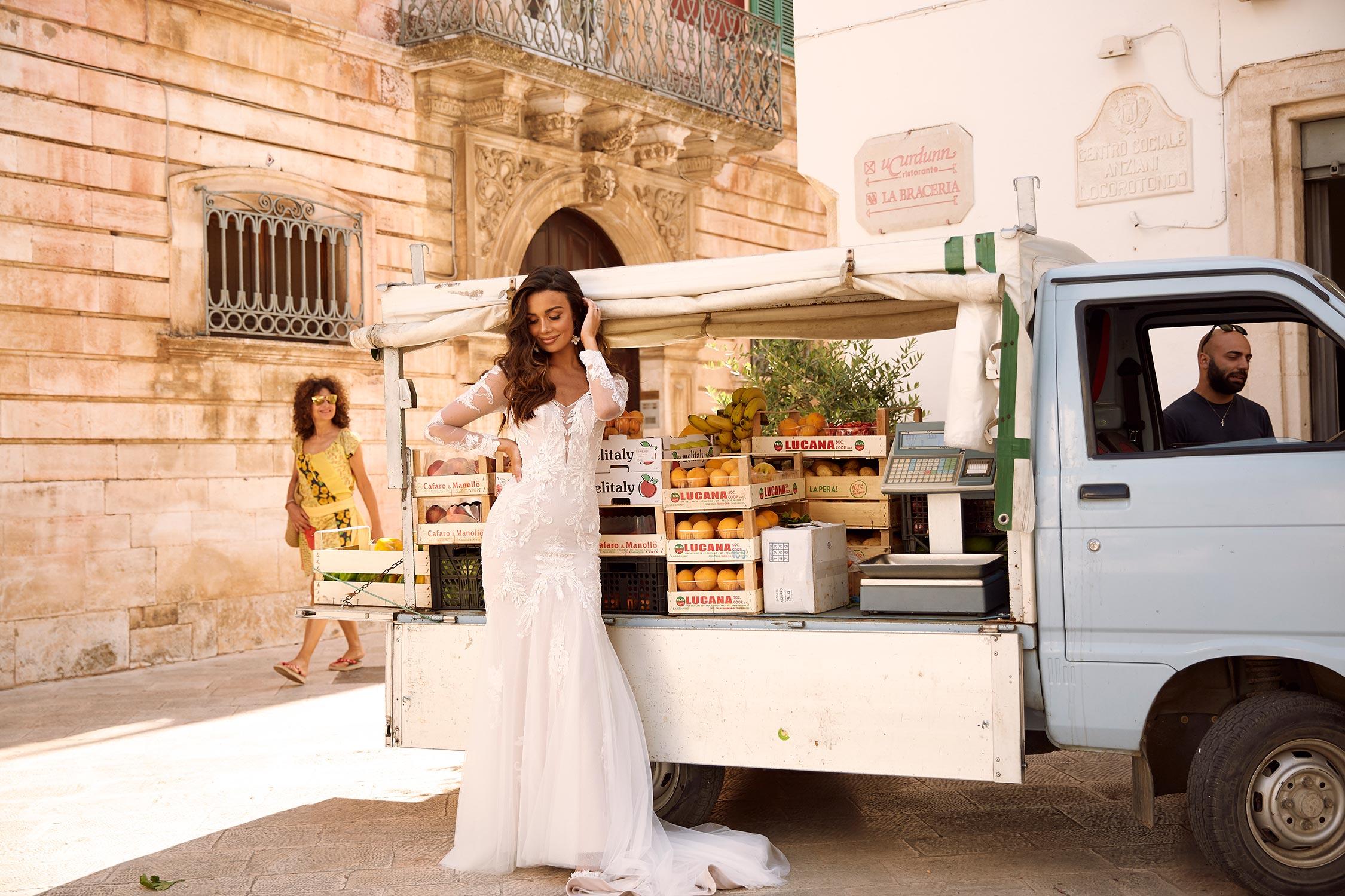 Mackenzie Ml11888 Plunging Neck Keyhole Back With Sleeves And Floral Lace Wedding Dress Madi Lane Bridal2