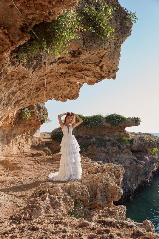 Mariah Ml11740 Layered Lace With Plunging Neck And Shoe String Straps Wedding Dress Madi Lane Bridal3