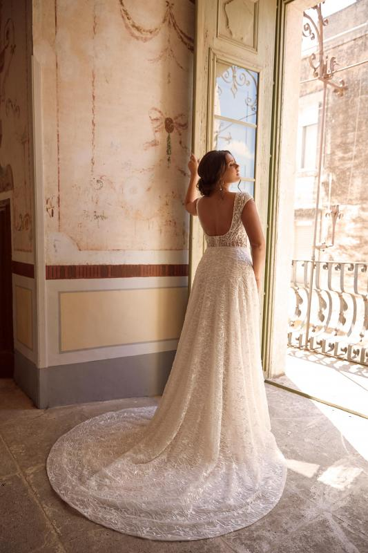 Montreal Ml13981 Beaded Illusion Neck With Full Length Beaded Lace Wedding Dress Madi Lane Bridal3
